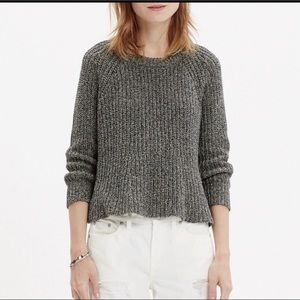 Madewell marled swing cropped sweater
